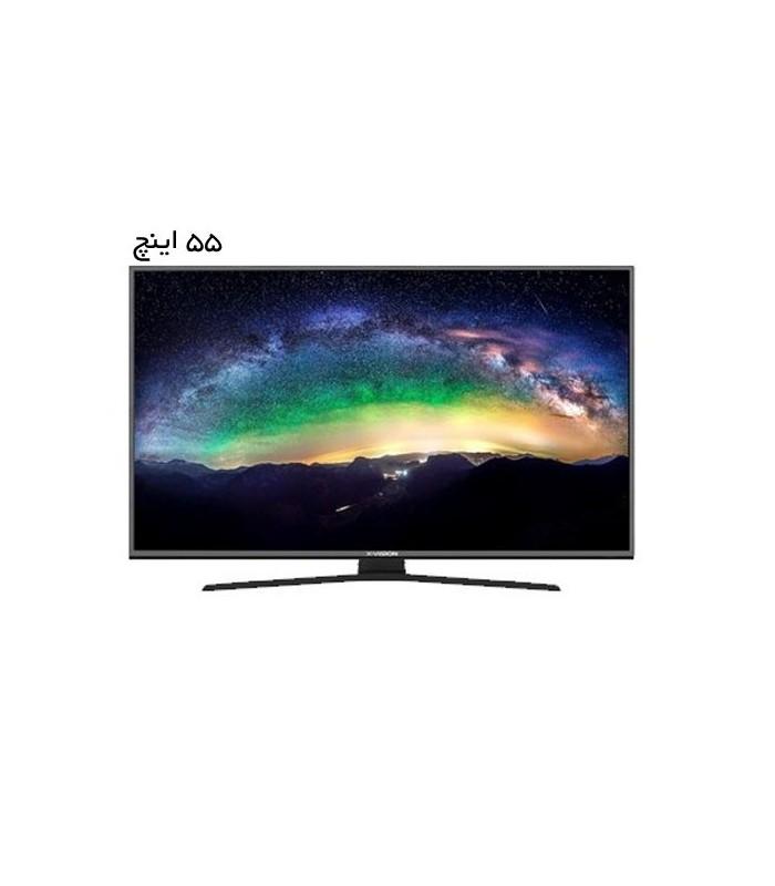 تلویزیون ال ای دی ایکس ویژن مدل TU615 سایز 55 اینچ