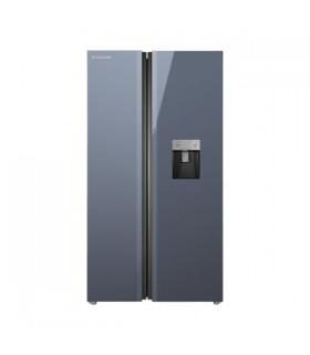 یخچال فریزر ساید بای ساید ایکس ویژن مدل TS665-AGD (تیتانیوم)